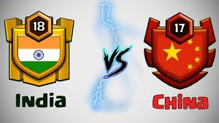 LIVE WAR🔥 India Vs China | Clash Of Clans