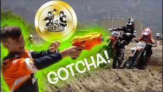 HUCKSON THE MENACE!! Nerf Guns and Water Balloons at the Motocross Track