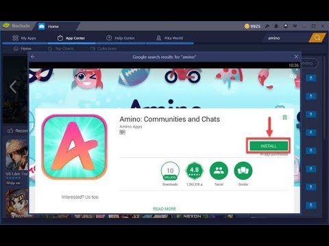 amino apps download pc