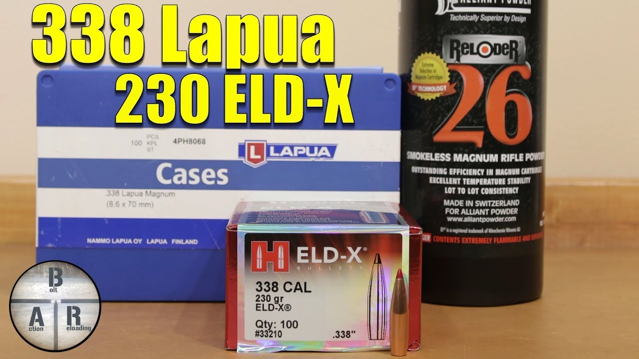 338 Lapua - Hornady 230 ELD-X and Reloder 26 Load Test