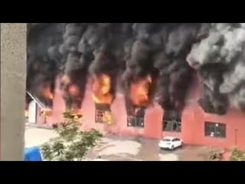 Textile Factory Fire In Shaoxing City, Zhejiang Province - China, Oct 24,2020