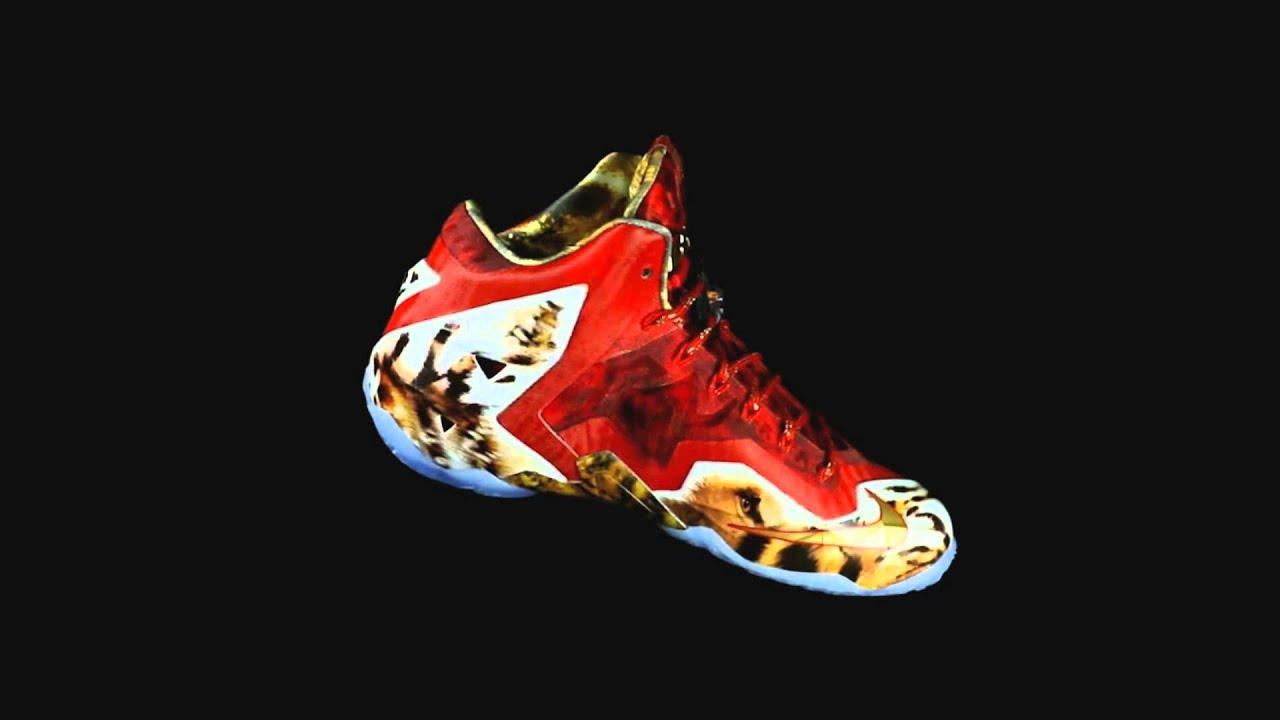 b5f8e24fb56a ... Nike LeBron 11 NBA 2K14 Limited Edition Close Look ...