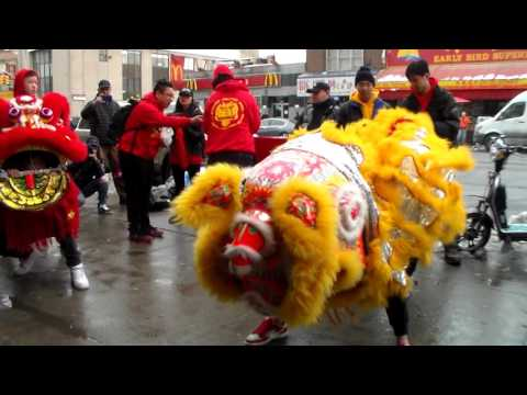 New York NYC Chinese Lion Dance 2017