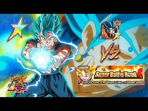 LR VEGITO BLUE AGAINST BRAND NEW SUPER BATTLE ROAD!! HOW DOES HE DO!? | DRAGON BALL Z DOKKAN BATTLE