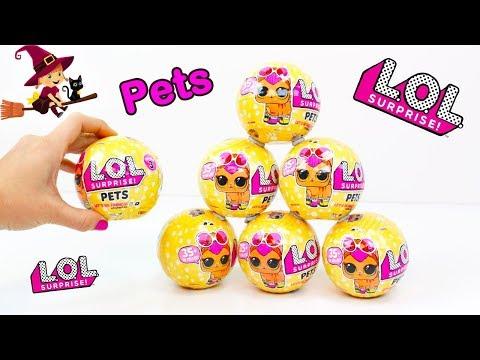 7 Huevos Sorpresas de Mascotas LOL Pets