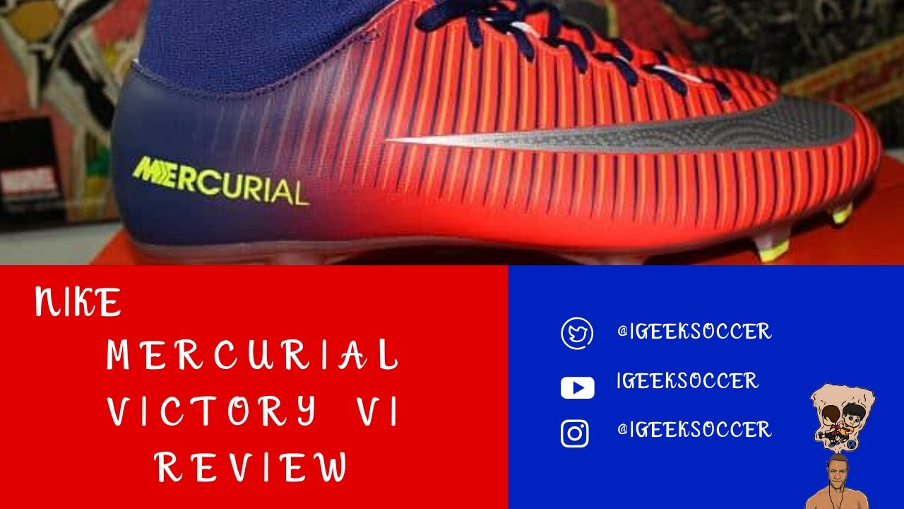 bb710f18009 Nike Mercurial Victory VI Dynamic Fit FG Review - YouTube