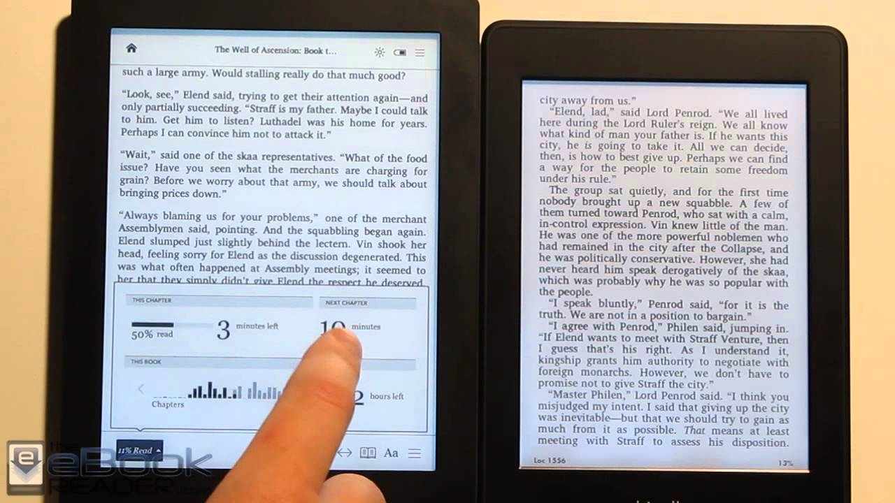 Kobo Aura Hd Vs Kindle Paperwhite Comparison Review Youtube
