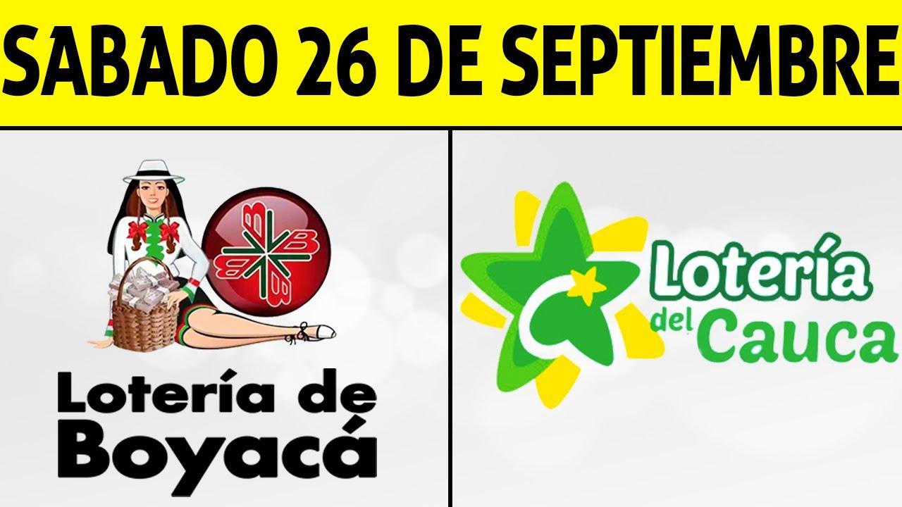 Resultados Lotería de BOYACÁ y CAUCA Sábado 26 de Septiembre de 2020   PREMIO MAYOR 😱💰🚨