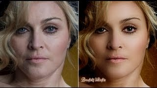 Photoshop CC retouching Madonna урок ретуши