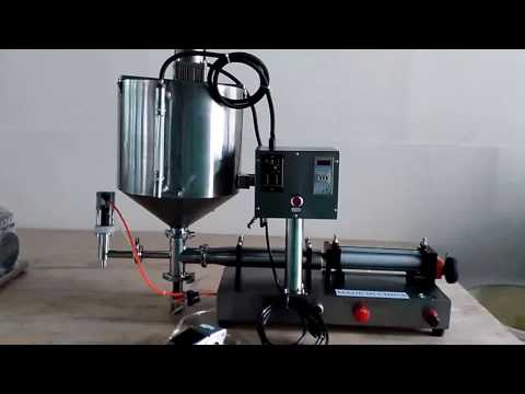Special operating instructions for piston filler equipment with mixing heating for viscous filling