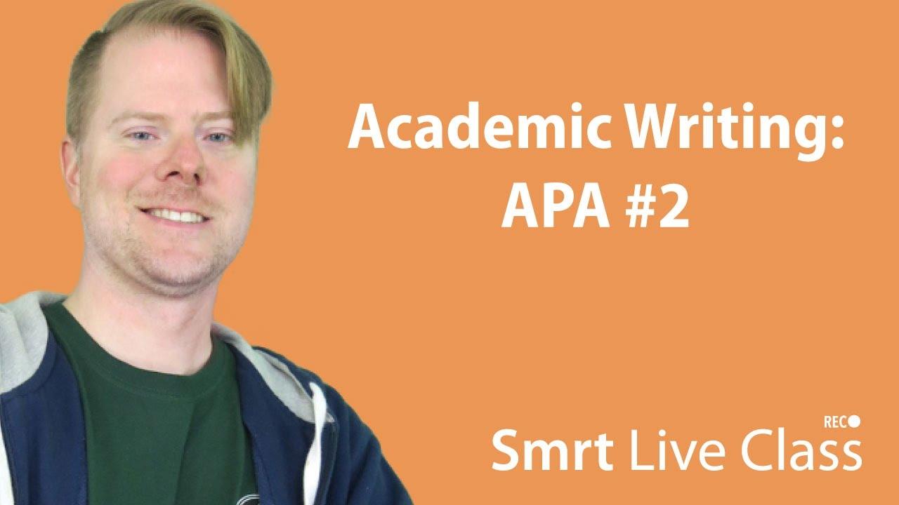 Academic Writing: APA #2 - English for Academic Purposes with Josh #14