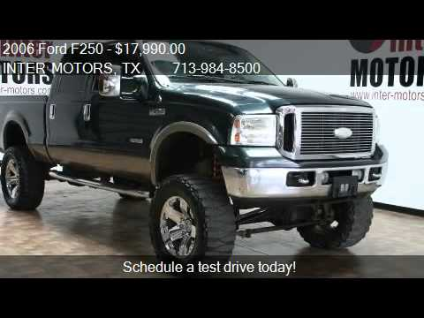 2006 ford f250 lariat crew cab 4wd for sale in houston tx youtube. Black Bedroom Furniture Sets. Home Design Ideas