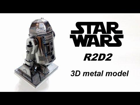 STAR WARS R2D2 Nano Metal Model 3D puzzle