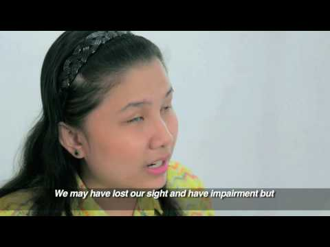 ICEVI The Nippon Foundation Higher Education Employment Video   Philippines   Czarina