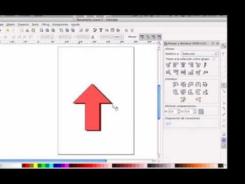 Creacin de una flecha con Inkscape  YouTube
