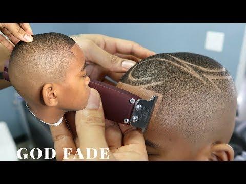 HAIRCUT TUTORIAL: GOD FADE W/ DESIGN BY CHUKA THE BARBER