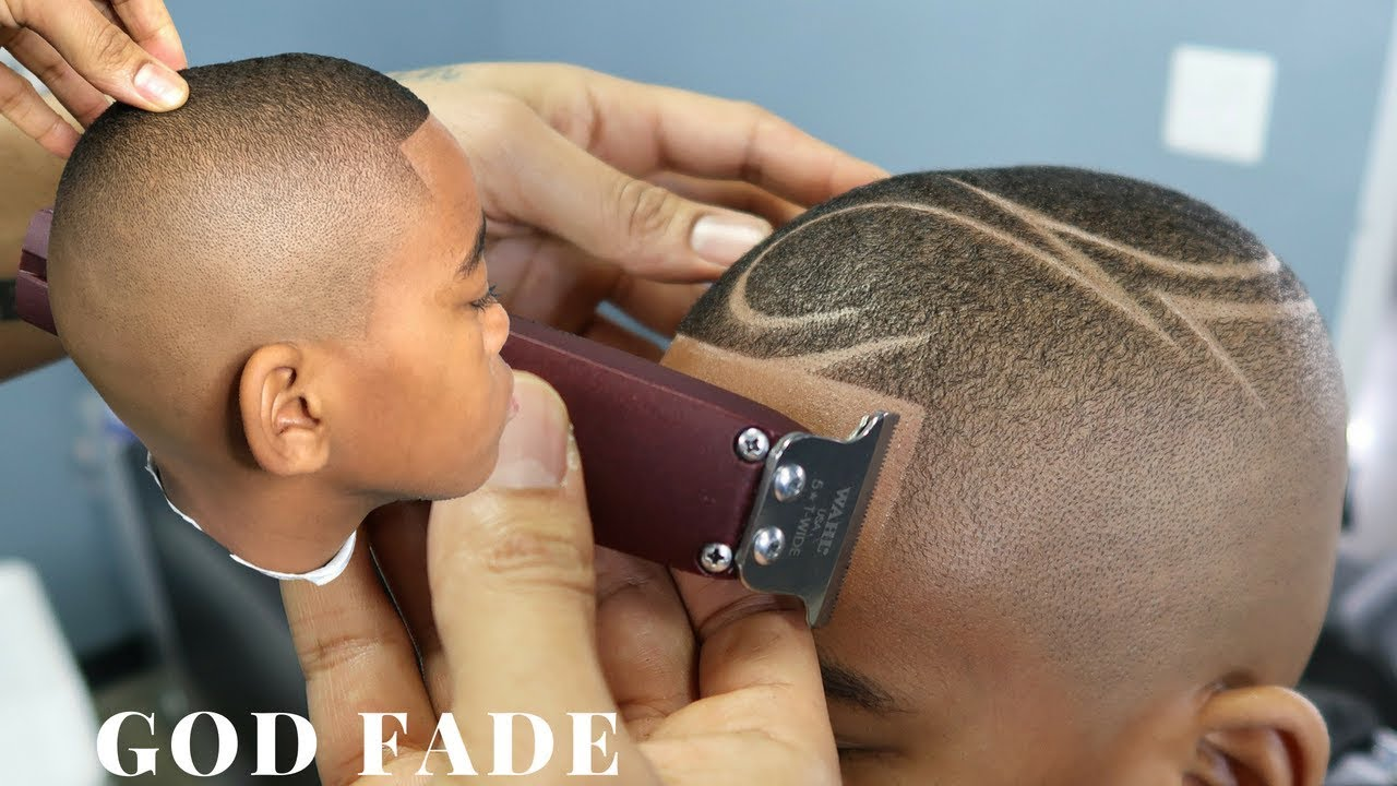 HAIRCUT TUTORIAL: GOD FADE W/ DESIGN BY CHUKA THE BARBER