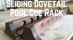 Sliding Dovetail Pool Cue Rack!!!  How To | Woodworking
