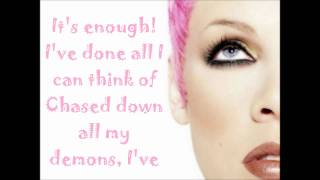 Repeat youtube video P!nk - Fukin' Perfect Lyrics