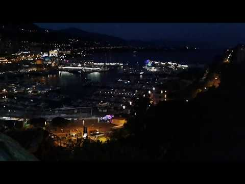 Monaco, Monte Carlo port by night