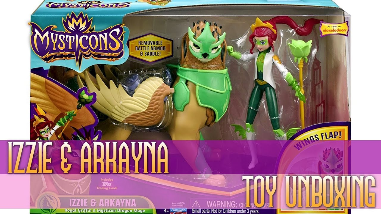 Mysticons Toy Unboxing Izzie Arkayna Royal Griffin Mysticon