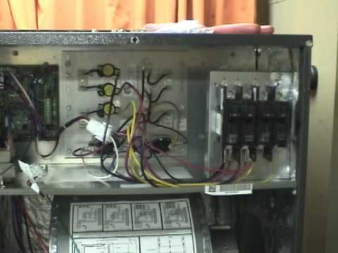 hqdefault heat pump installation part 2 youtube goodman 10kw heat strip wiring diagram at alyssarenee.co