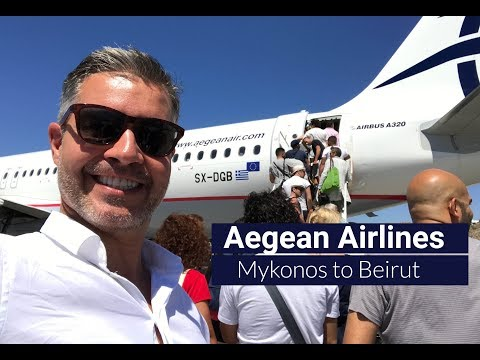 Aegean Airlines | Flight Review | Mykonos - Athens - Beirut