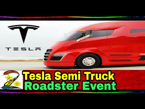 Tesla Semi truck and Roadster event in 9 minutes | The Verge |