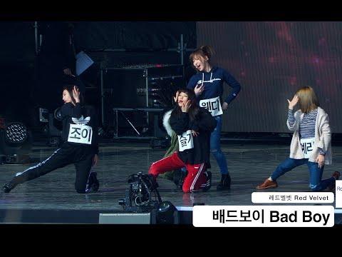 레드벨벳 Red Velvet[4K Rehearsal DRY 리허설 직캠]배드보이 Bad Boy@180210 락뮤직