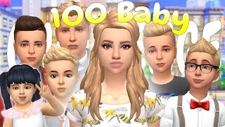 SEASONS THUNDER SHOWERS!! 100 BABY CHALLENGE | (Part 24) The Sims 4: Let's Play