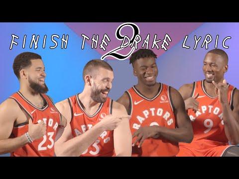 The Raptors Finish Drake Lyrics - Part 2! Ft. Ibaka, VanVleet, Gasol & Davis