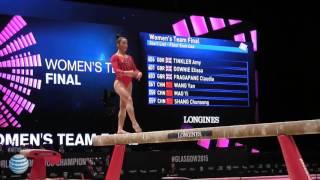 Aly Raisman - Balance Beam - 2015 World Championships - Team Final