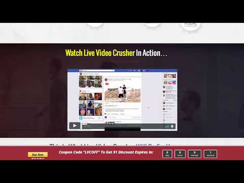 """""""Live Video Crusher"""" + $109 Prize Contest"""