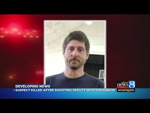 Mich. man killed after shooting deputy with crossbow