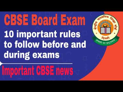 CBSE Board Exam : 10 important rules to follow before and during exams Mp3