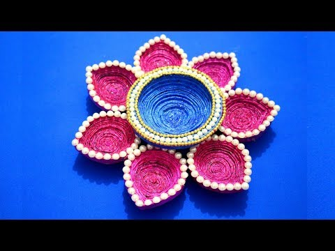 DIY Best out of waste organizer - Easy Jewellery Organiser from newspaper - Waste Material Craft