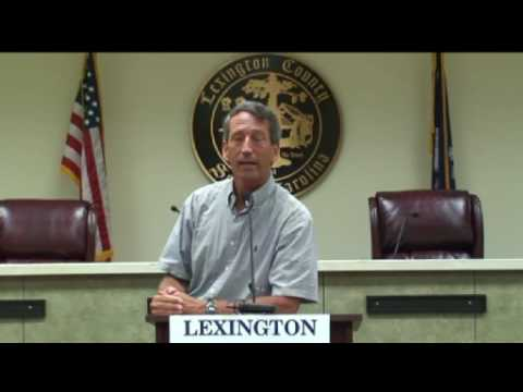 Governor Sanford speaks to Lexington County GOP and calls it like he sees it
