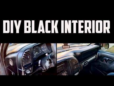 Custom BLACK Interior For LESS THAN $20!!   Performed On A 98 Chevy OBS
