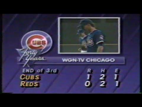 1988 MLB: Cubs at Reds 8/16/1988