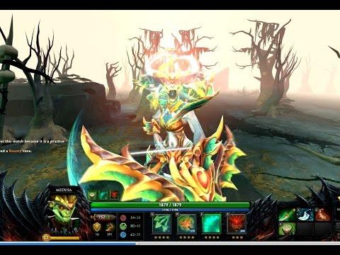 Dota 2 Serpent of the Emerald Sea  Medusa Set