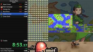 Advance Wars Any% Speedrun in 13:14 [Current World Record]