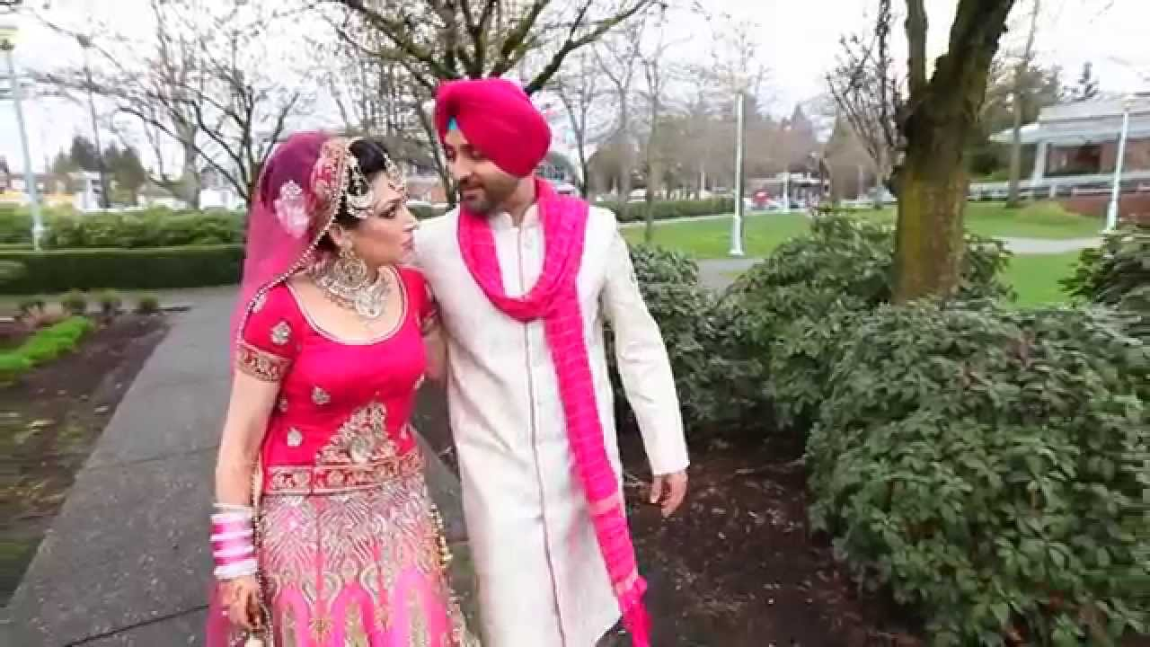 Cute Punjabi Married Couple Wallpaper Amazing Sikh Wedding Film Tej And Kiran March 2014