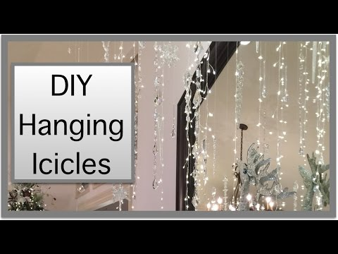 christmas decorations hanging icicles from the ceiling youtube - Christmas Ceiling Decorations