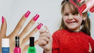 Yana and baby born Nastya Play /w Kids Make Up Hair Styling Beauty Salon Toys