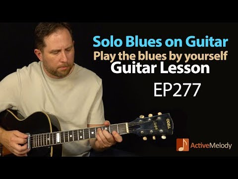 Learn to play a slow blues composition  yourself on guitar  Blues Guitar Lesson  EP277