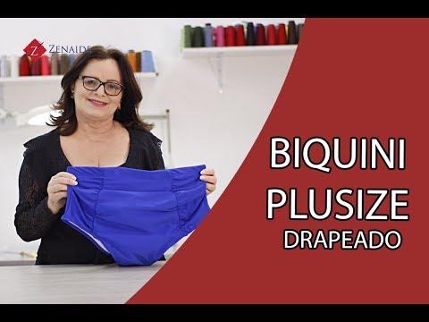 Biquíni Plus-Size Drapeado