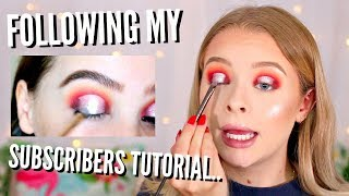I TRIED FOLLOWING *A SUBSCRIBER'S* MAKEUP TUTORIAL.. | sophdoesnails
