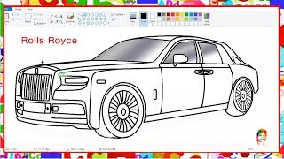 How to draw Car Rolls Royce - Learn By Art