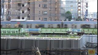 西武池袋駅から見た埼京線・湘南新宿ライン・山手線の列車たち