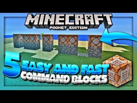 5 Easy and Simple Command Blocks Tutorial - MCPE 1.1 Command Blocks (Minecraft Pocket Edition)